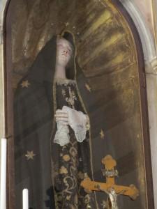 Madonna Addolorata nella Cappella Sipari (foto Stefano Dark)