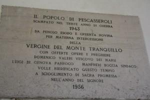 lapide chiesa M.Tranquillo (foto Stefano Dark)