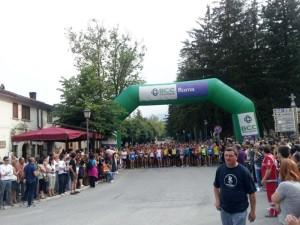 partenza dell'edizione 2013 dell'Ecolonga, storica gara podistica dell'ASD Pescasseroli