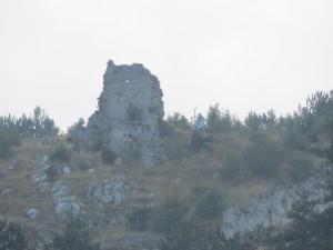 particolare dei ruderi del Castello