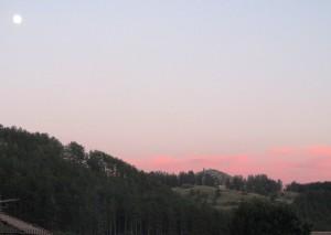 profilo serale sulla Ginestra ai Colli (foto Stefano Dark)